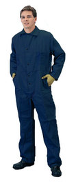 Tillman™ Size 3X Navy Blue Cotton FR7A® Indura® Westex® Coveralls With Snap Front Closure