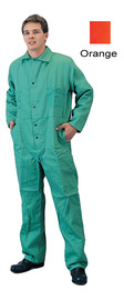 Tillman® 3X Orange Cotton FR-7A® Westex® Coveralls With Snap Front Closure