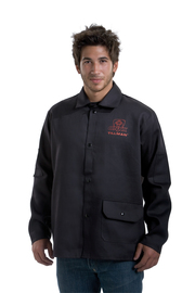 Tillman® Large Black Cotton FR-7A® Westex® Jacket With Snap Front Closure
