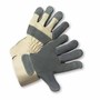 West Chester Small Premium Grain Cowhide Palm Gloves With Canvas Back And Rubberized Safety Cuff