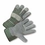 West Chester Large Premium Heavy Split Leather Palm Gloves With Canvas Back And Rubberized Gauntlet Cuff