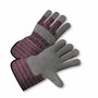 West Chester Size 2X Standard Split Leather Palm Gloves With Canvas Back And Rubberized Gauntlet Cuff