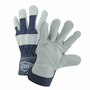 West Chester Small Premium Split Leather Palm Gloves With Canvas Back And Rubberized Safety Cuff