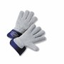 West Chester Small Premium Split Leather Palm Gloves With Leather Back And Rubberized Safety Cuff