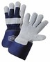 West Chester X-Large Premium Split Leather Palm Gloves With Canvas Back And Rubberized Gauntlet Cuff