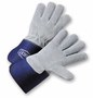 West Chester Large Premium Split Leather Palm Gloves With Leather Back And Rubberized Gauntlet Cuff