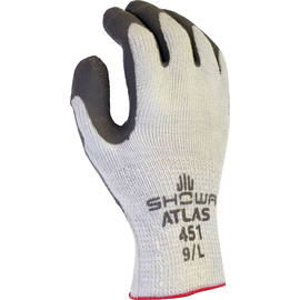 SHOWA® Size 8 Gray ATLAS® Natural Rubber Polyester/Cotton/Acrylic Lined Cold Weather Gloves