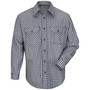 Bulwark® Small Regular Navy And Khaki Plaid Cotton Nylon Flame Resistant Work Shirt