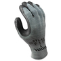 SHOWA® Size 9 ATLAS® 10 Gauge Black Natural Rubber Work Gloves With Cotton/Polyester Liner And Knit Wrist