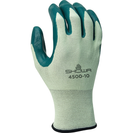 SHOWA® Size 10 Nitrile Palm Coated Work Gloves With Nylon Knit Liner And Knit Wrist