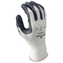 SHOWA® Size 9 15 Gauge Nitrile Palm Coated Work Gloves With Nylon Liner And Knit Wrist