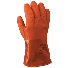 SHOWA® Size 8 Orange ATLAS® Acrylic/Cotton Insulated Lined PVC Chemical Resistant Gloves