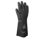 SHOWA® Size 9 Black 40 mil Latex And Rubber Chemical Resistant Gloves