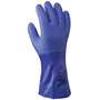 SHOWA® Size 7 Blue ATLAS® Cotton Lined 1.3 mm Cotton And PVC Chemical Resistant Gloves
