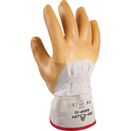 SHOWA® Size 10 Heavy Duty Yellow Natural Rubber Work Gloves With Cotton Liner And Safety Cuff