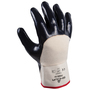 SHOWA® Size 10 Heavy Duty Nitrile Palm Coated Work Gloves With Cotton Liner And Safety Cuff
