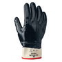 SHOWA® Size 9 Heavy Duty Navy Nitrile Work Gloves With Cotton Liner And Safety Cuff