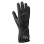 SHOWA® Size 9 Black Cotton Flock Lined 24 mil Neoprene Chemical Resistant Gloves