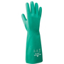 SHOWA® Size 7 Green Cotton Flock Lined 15 mil Nitrile Chemical Resistant Gloves