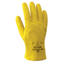 SHOWA® Size 9 Heavy Duty Yellow PVC Work Gloves With Cotton Liner And Slip-On Cuff