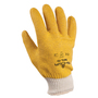 SHOWA® Size 8 Heavy Duty Yellow PVC Work Gloves With Cotton Liner And Knit Wrist