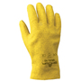 SHOWA® Size 10 Heavy Duty Yellow PVC Work Gloves With Cotton Liner And Slip-On Cuff