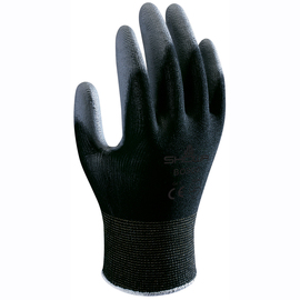 SHOWA® Large 13 Gauge Black Polyurethane Work Gloves With Nylon Knit Liner And Knit Wrist