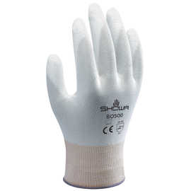 SHOWA® Small 13 Gauge White Polyurethane Work Gloves With Nylon Knit Liner And Knit Wrist