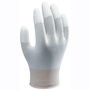 SHOWA® Large 13 Gauge White Polyurethane Work Gloves With Nylon Knit Liner And Knit Wrist