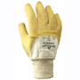 SHOWA® Size 8 Yellow Natural Rubber Work Gloves With Cotton Liner And Knit Wrist