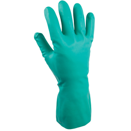SHOWA® Size 7 Green 11 mil Nitrile Chemical Resistant Gloves