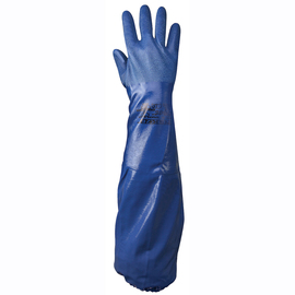 SHOWA® Size 11 Blue Cotton Lined Nitrile Chemical Resistant Gloves