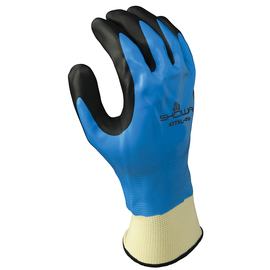 SHOWA® Size 10 Black, Blue And White Foam Nitrile Acrylic/Polyester/Nylon Lined Cold Weather Gloves