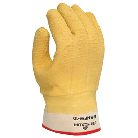 SHOWA® Size 10 Yellow Natural Rubber Cotton/Foam Insulation Lined Cold Weather Gloves