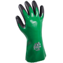 SHOWA® Size 9 Black And Green Polyester Seamless Knit Lined Nitrile Chemical Resistant Gloves
