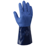 SHOWA® Size 9 Blue ATLAS® Seamless Knit Lined Cotton And Nitrile Chemical Resistant Gloves