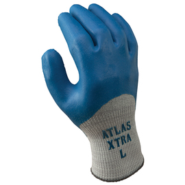 SHOWA® Size 9 ATLAS® 10 Gauge Natural Rubber Full Hand Coated Work Gloves With Cotton And Polyester Liner And Knit Wrist