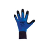 SHOWA® Size 9 13 Gauge Black Natural Rubber Work Gloves With Cotton/Polyester Liner And Knit Wrist