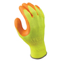 SHOWA® Size 9 ATLAS® 10 Gauge Orange Natural Rubber Work Gloves With Cotton/Polyester Liner And Knit Wrist
