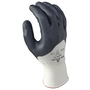 SHOWA® Size 8 15 Gauge Gray Nitrile Work Gloves With Seamless Knit Liner And Knit Wrist
