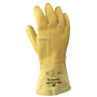 SHOWA® Size 10 Heavy Duty Yellow Natural Rubber Work Gloves With Cotton Liner And Gauntlet Cuff