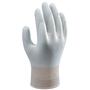 SHOWA® Large 13 Gauge Gray Polyurethane Work Gloves With Nylon Liner And Knit Wrist