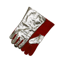 Stanco Safety Products™ Medium Aluminum Leather Rayon Flame Resistant Aluminzed Welding Gloves
