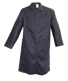 Stanco Safety Products™ Size 3X Navy Blue Indura® Arc Rated Flame Resistant Lab Coat With Snap Front Closure
