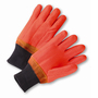 West Chester Large PVC Work Gloves With Interlock Liner And Knit Wrist