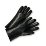 PIP® Ladies  Black PVC Full Coated Work Gloves With Interlock Liner And Slip-On Cuff