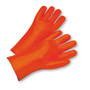 PIP® Large  Bright Orange PVC Full Coated Work Gloves With Jersey Liner And Slip-On Cuff