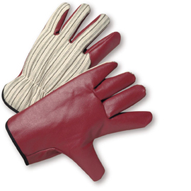 PIP® X-Large  Maroon Nitrile Palm And Finger Coated Work Gloves With Jersey Liner And Slip-On Cuff
