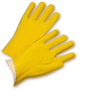 PIP® Large  Yellow PVC Full Coated Work Gloves With Jersey Liner And Slip-On Cuff