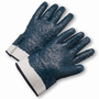 West Chester Large Nitrile Work Gloves With Brushed Jersey Liner And Starched Safety Cuff